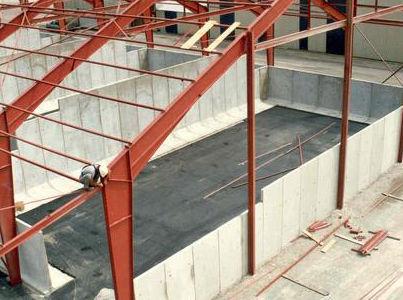 muro di contenimento in calcestruzzo / modulare