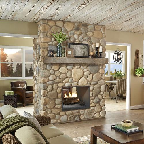 paramento di pietre / indoor / levigato / aspetto pietra