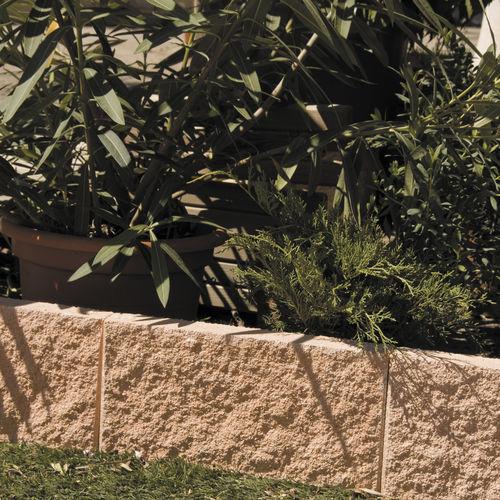 cordolo da giardino / in pietra ricostituita / lineare / orizzontale