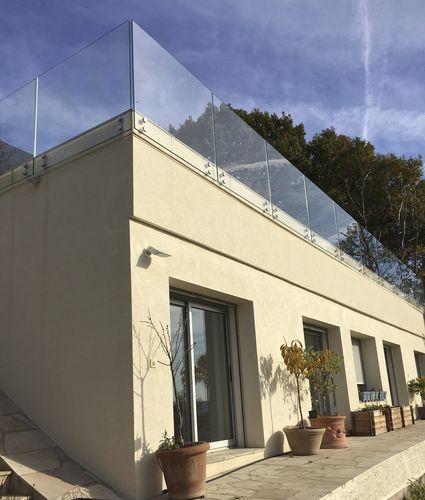 ringhiera in vetro / pannelli in vetro / da esterno / per scala