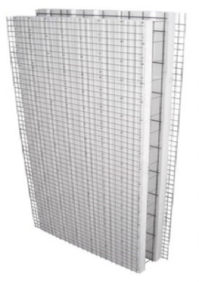 blocco cassero in polistirene espanso PSE / per muro / isolante / modulare