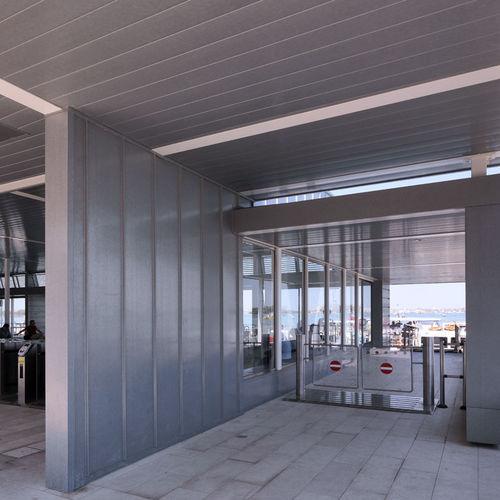 facciata ventilata in rame / in zinco titanio / in fogli