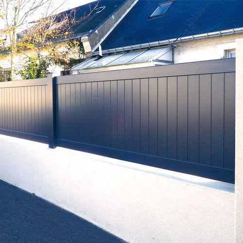 recinzione da giardino / a lamelle / in alluminio / tinta
