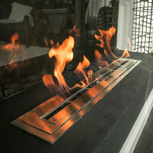 bruciatore a bioetanolo rettangolare / moderno