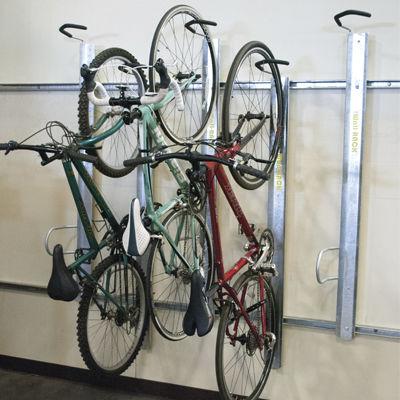 rastrelliera per biciclette a muro / in acciaio / in acciaio galvanizzato