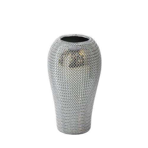 vaso moderno / in ceramica / in acciaio inox