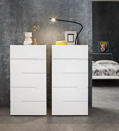 Cassettiera moderna / in legno laccato / in quercia / bianca - FRED ...