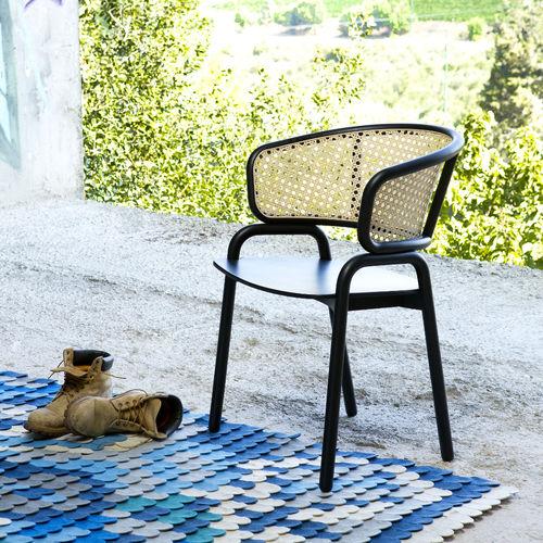 Sedia moderna / con braccioli / in compensato stampato / in faggio FRANTZ 881 by Producks Design Studio TEKHNE S.r.l.
