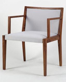 Sedia moderna / imbottita / con braccioli / in legno POURPARLER : 173 by Claudio Perin TEKHNE S.r.l.