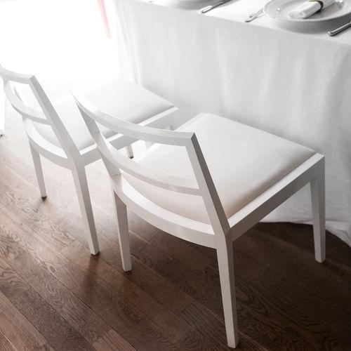 Sedia moderna / imbottita / in legno / professionale POURPARLER : 161 by Claudio Perin TEKHNE S.r.l.