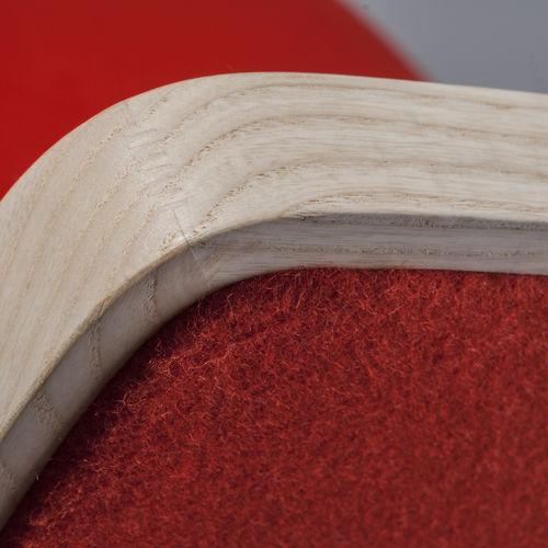 sedia alta moderna / imbottita / in tessuto / in legno