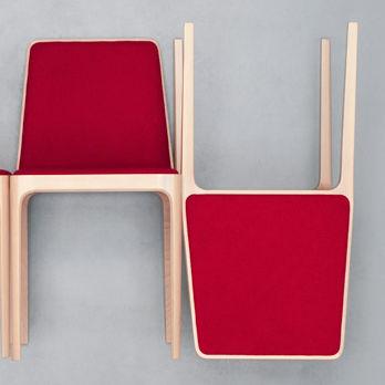 Sedia moderna / imbottita / in tessuto / in legno TIPTAP : 380 by Claudio Perin TEKHNE S.r.l.