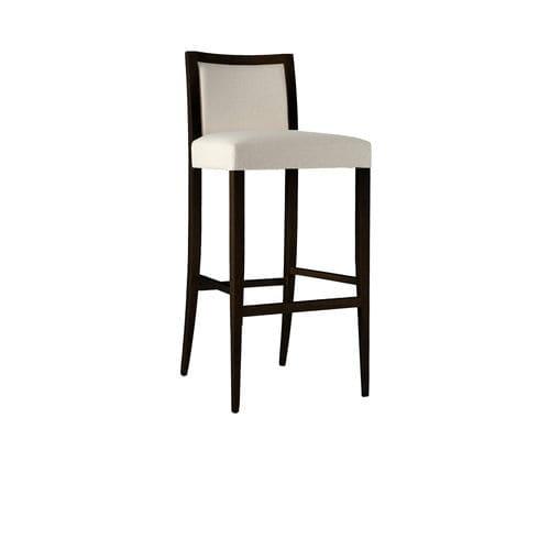 sedia alta moderna / imbottita / in legno