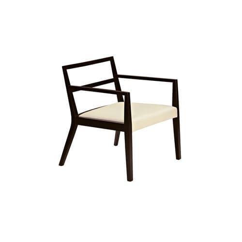 Sedia moderna / imbottita / con braccioli / in legno POURPARLER : 186 by Claudio Perin TEKHNE S.r.l.