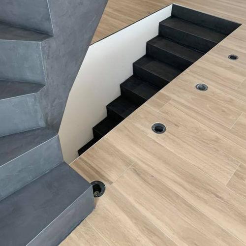 intonaco decorativo / da pavimento / a base di cemento / aspetto cemento
