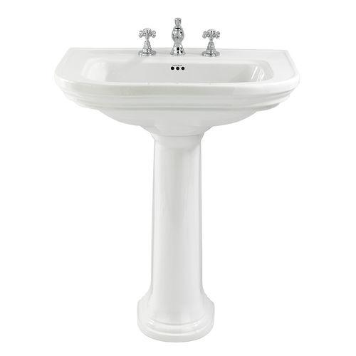 lavabo da terra / ovale / in ceramica / classico