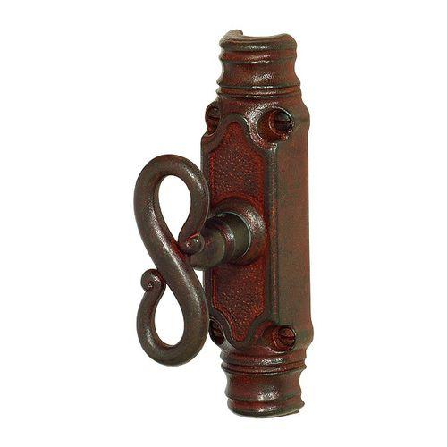 maniglia da finestra / in ferro modellato / classica / con serratura integrata