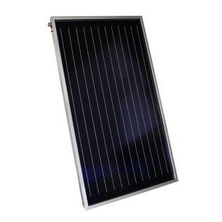 collettore solare termico piano / per scaldare l'acqua / in vetro antiriflesso / per tetto