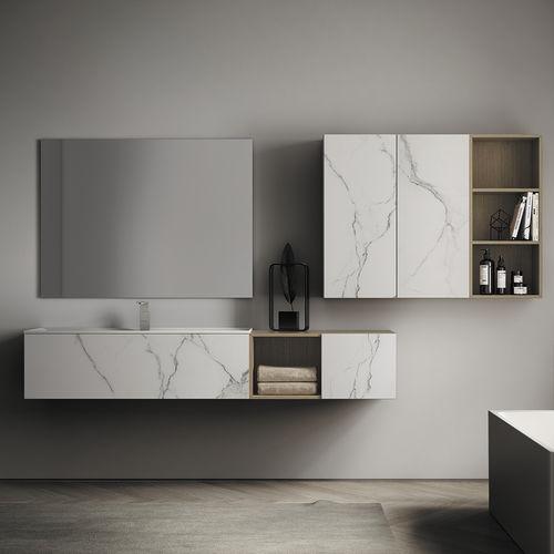 bagno moderno / in ceramica / in legno / in marmo