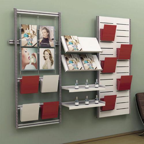 parete attrezzata per ufficio / in metallo laccato
