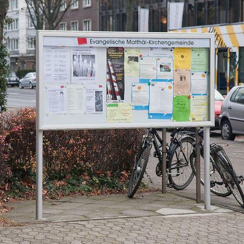 cartello pubblicitario da esterno / magnetico / in alluminio