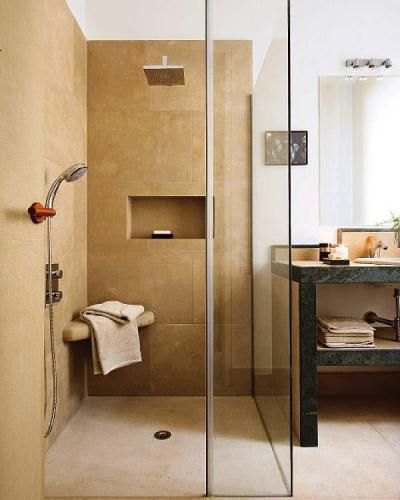 piatto doccia rettangolare / in pietra
