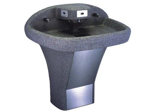 lavamani da terra / rettangolare / in plastica / contract