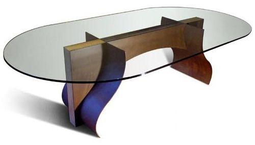 tavolo design originale / in faggio / ovale