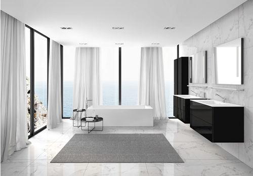 Mobile lavabo sospeso / in legno / moderno / con specchio BLOCK EVO COSMIC