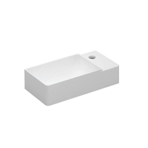 lavabo sospeso / rettangolare / in pietra / moderno