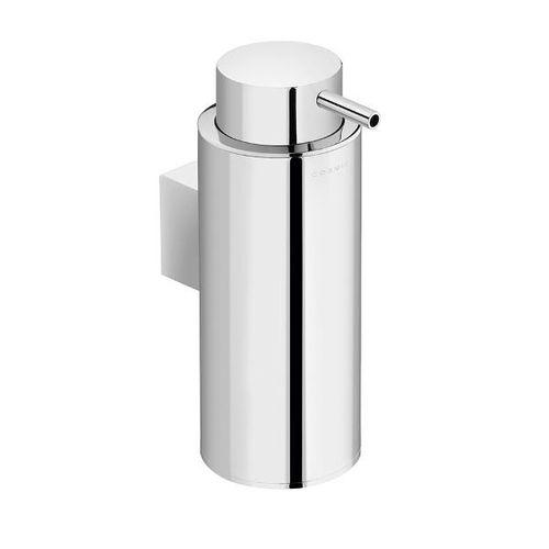distributore di sapone contract / da parete / in cromo / manuale