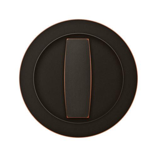 maniglia per porta scorrevole / in bronzo / moderna / con serratura integrata