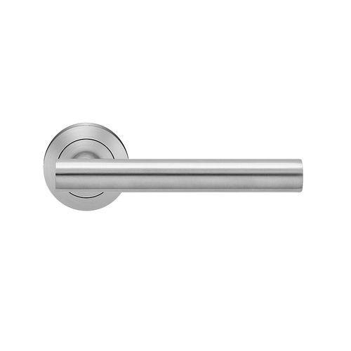 maniglia per porta / in acciaio inox / moderna