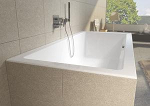 Vasca Da Bagno White : Vasca da bagno in acrilico lugo mat velvet white riho