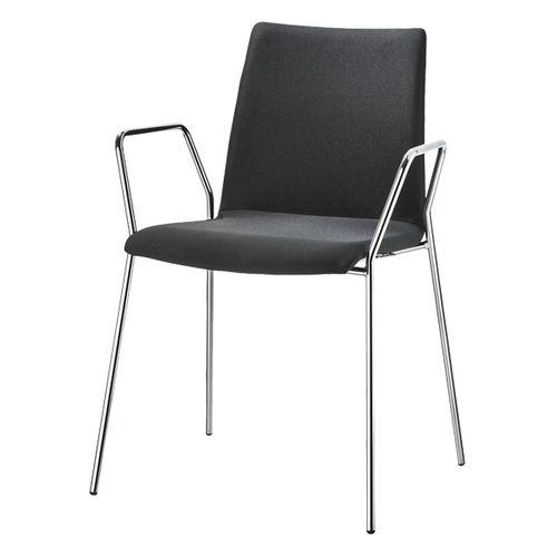 Sedia visitatore moderna / in legno / imbottita / con braccioli VARIUS by Prof. Matthias Rexforth BRUNE Sitzmöbel GmbH
