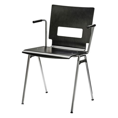 Sedia visitatore moderna / con braccioli / imbottita / impilabile X_TEND by Prof. Matthias Rexforth BRUNE Sitzmöbel GmbH
