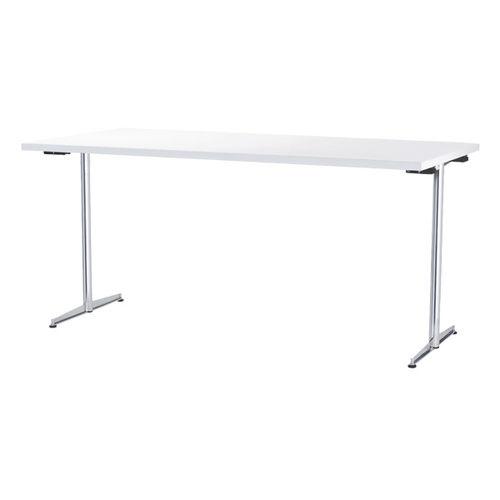 tavolo da lavoro moderno / in acciaio / rettangolare / per edifici pubblici