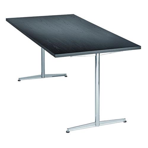 Tavolo moderno / in acciaio / rettangolare / per edifici pubblici 4110 by delphin design BRUNE Sitzmöbel GmbH