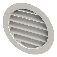 griglia di ventilazione in alluminio / in acciaio inox / rotonda