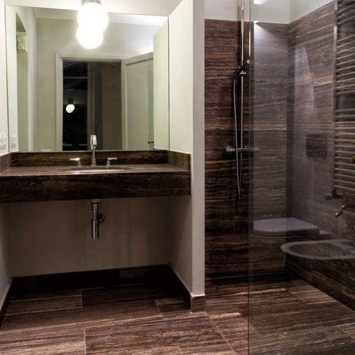 piastrella da bagno / da parete / in travertino / liscia