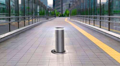 colonna di controllo accessi / in acciaio inossidabile / semiautomatica / automatica