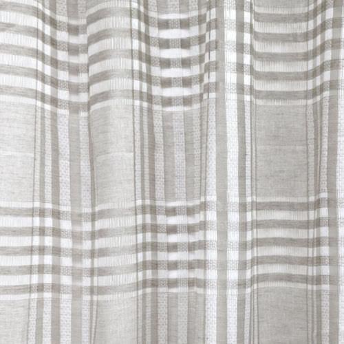 tessuto per tende / a quadretti / in lino