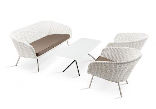 Divano moderno / da giardino / in acciaio / 3 posti SHELL SOFA by Jan des Bouvrie FueraDentro