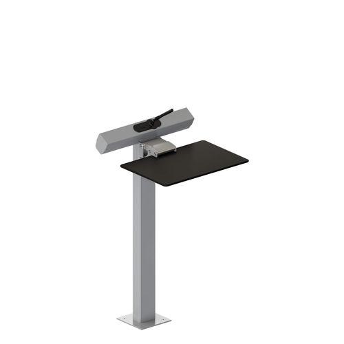 tavolo da conferenza moderno / in HPL / in acciaio / rettangolare