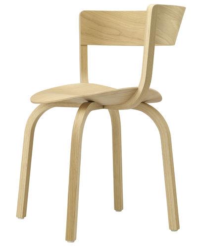 sedia da ristorante moderna / imbottita / in tessuto / in compensato stampato