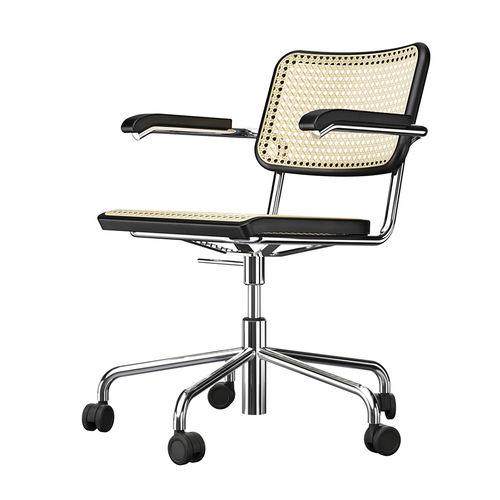 sedia da ufficio moderna / con rotelle / girevole / con braccioli