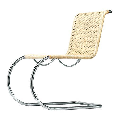 sedia design Bauhaus / cantilever / in vimini / in pelle