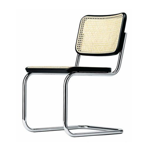 sedia moderna / con braccioli / imbottita / cantilever