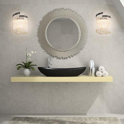 applique moderna / da bagno / in vetro / a lampada fluorescente