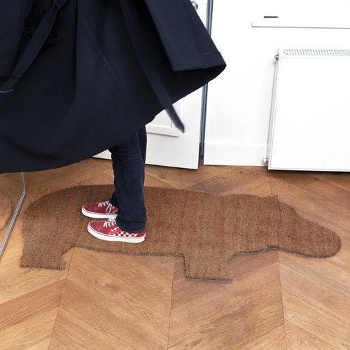 tappeto moderno / a tinta unita / in PVC